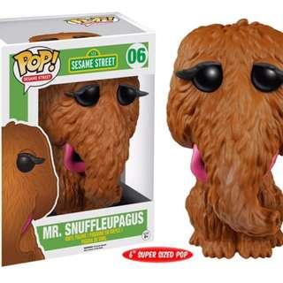 Original Funko Pop Sesame Street Mr. Snufflepagus