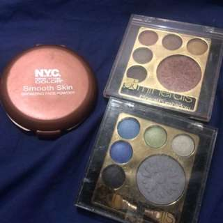 NYC Bronzing Face Powder/ BT Minerals Eyeshadows