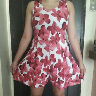 Pink Floral Romper