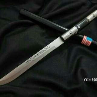 Baton Sword Pendek 55cm Kualitas Grade A, Tongkat Pedang