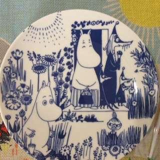 嚕嚕米瓷餐盤-19公分 日本帶回