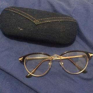 Gold Plated Big Framed Glasses