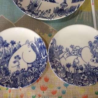 嚕嚕米瓷餐盤-13公分 日本帶回