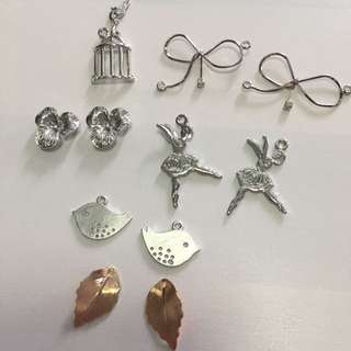 Silver & Rose Gold Charms For Sale