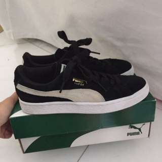 PUMA Classic Suede Black Woman Eur Size 36 WEAR ONLY ONCE
