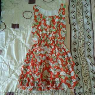 Floral Orange Top