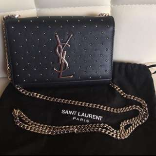 Saint Laurent Classic Monogram Studded Bag