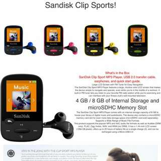 Sandisk Sports Jam Mp3 Clip From $80