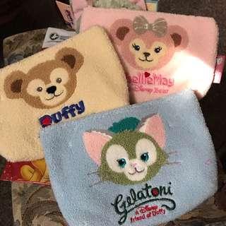 香港迪士尼 達菲 雪莉枚 畫家貓 化妝包 收納包