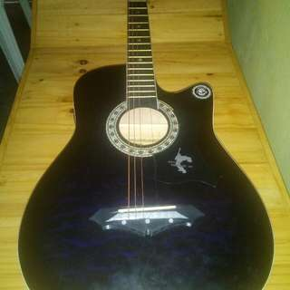 """38"""" Jervis electric acoustic guitar slight negotiable w/free capo,  chord and 3 picks"""