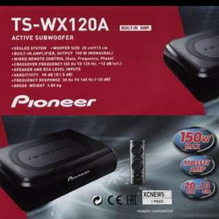 Car Subwoofer;Pioneer TS-WX120A