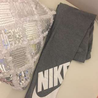Nike Grey Leggings (Teen 12-13years - Fits XS Women's)