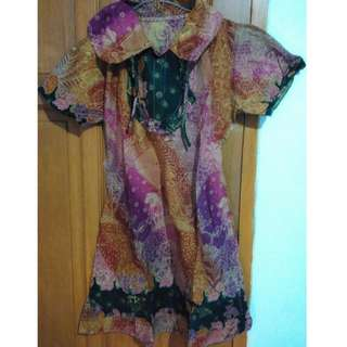 Short-Sleeved Dress (Batik)