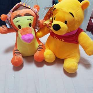 Winnie The Pooh And Tigger Soft Toys