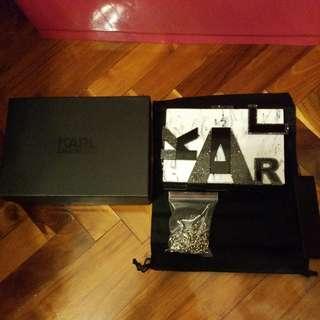 Brand New Karl Lagerfeld Marble Clutch Box