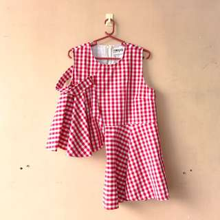 Red Gingham Trendy Top
