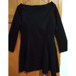 Long-sleeved Dress (Black)