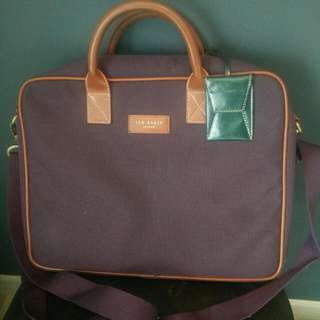 Rare TED BAKER Oxford Weave Briefcase/Document Bag