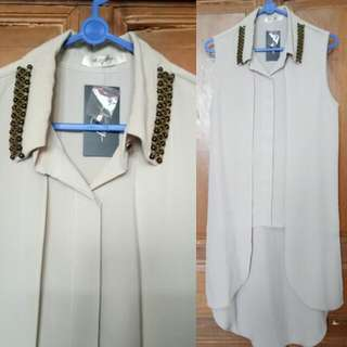 (New) Nude Sleeveless Shirt