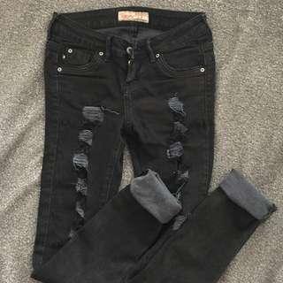BNY Ripped Black Skinny Pants
