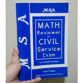 MSA MATH REVIEWER FOR CIVIL SERVICE Exam