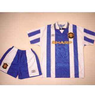 1994/95 Man Utd 3rd away Shirt & Short L size 曼聯94/95 第3作客連褲