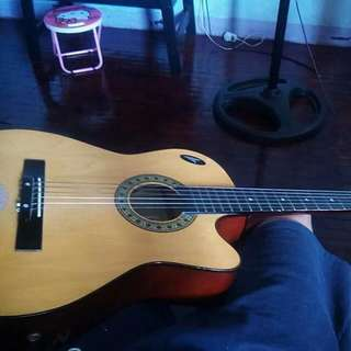 Acoustic Guitar With Amplifier Jack