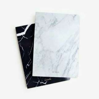 Black / White Marble Notebook