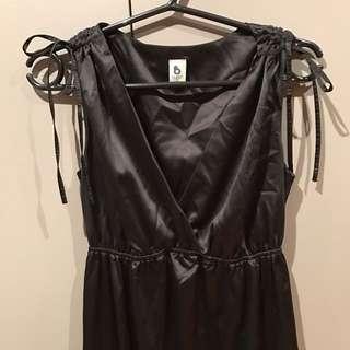 Satin Black Maxi Dress