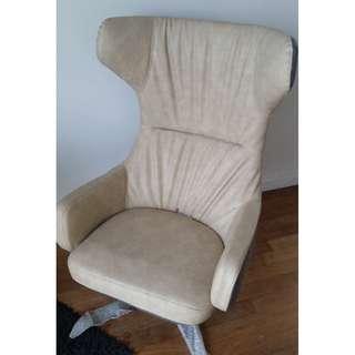 Beige Lounge Chair