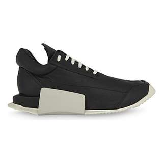 ADIDAS X RICK OWENS RO Level Runner leather trainers