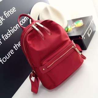 Red Colour Backpack