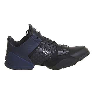 ADIDAS Y3 Kanja mesh and leather trainers 黑