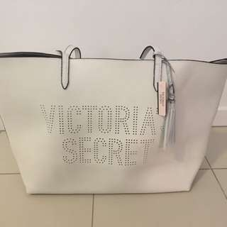 Victoria Secret New White Tote Bag