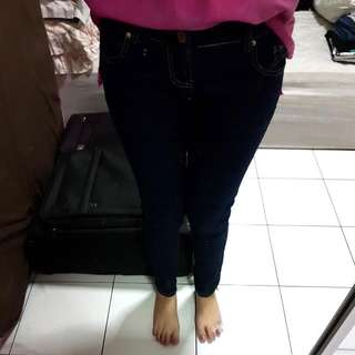 Zara Woman Navy Jeans