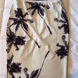 Black And White Pin Skirt