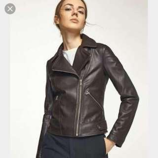 Black Leather Jacket By Magnolia Collection