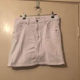 Tigermist White Denim Skirt Size M