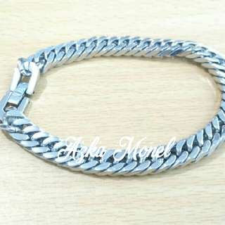 Gelang Titanium Silver