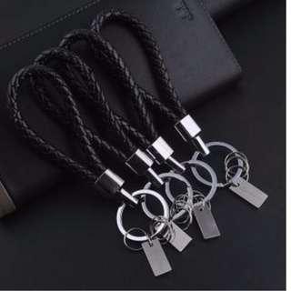 Premium Quality Leather Key Chain with Car Logo Metal Key Keychain