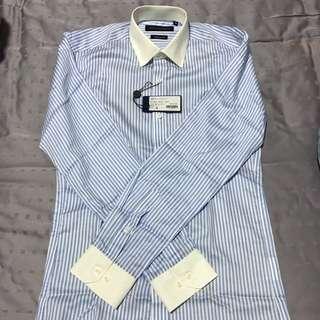 Bell & Barnett Blue Stripe Long Sleeve Business Shirt