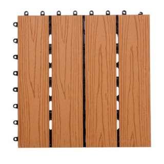 【特力屋】伯森塑木地板30x30cm -棕 -9入