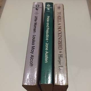Classic Books Combo: To Kill A Mockingbird, Pride And Prejudice, Little Women