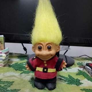 絕版巨魔娃娃 Trolls Doll 黃髮衛兵