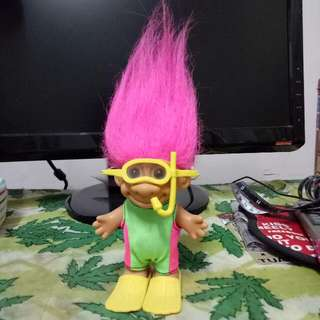 絕版巨魔娃娃 Trolls  Doll 潛水夫