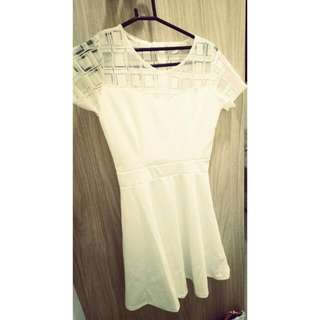 Freepos, BN White Skater Dress