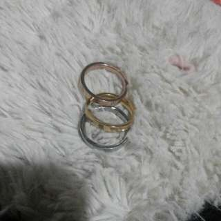 Catier Tri-color Ring Size 7