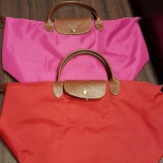 Longchamp Bag (Fusia Pink And Red)