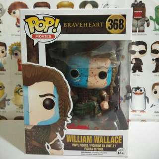 * Damaged Box Clearance Sale * Funko Pop Bloody William Wallace Exclusive Vinyl Figure Collectible Toy Gift Movie Braveheart