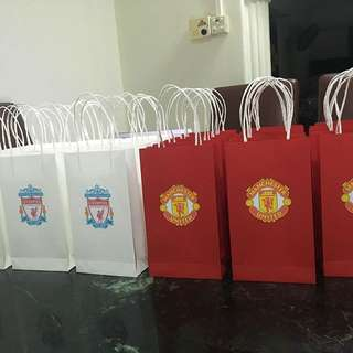 Liverpool and Manchester United Football Goodie bags